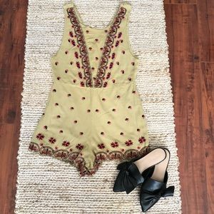 Free People Lila Embroidered Romper (6)